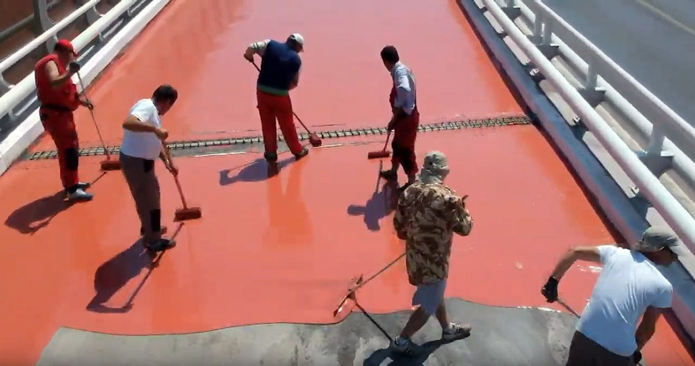 Waterproofing a bridge deck