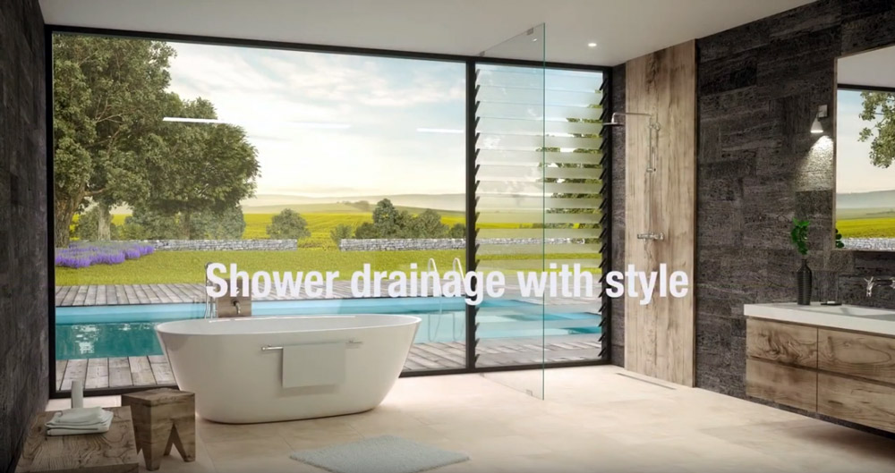 Shower drainage with style