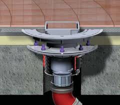 shallow and lower waterproofing flange drainage system