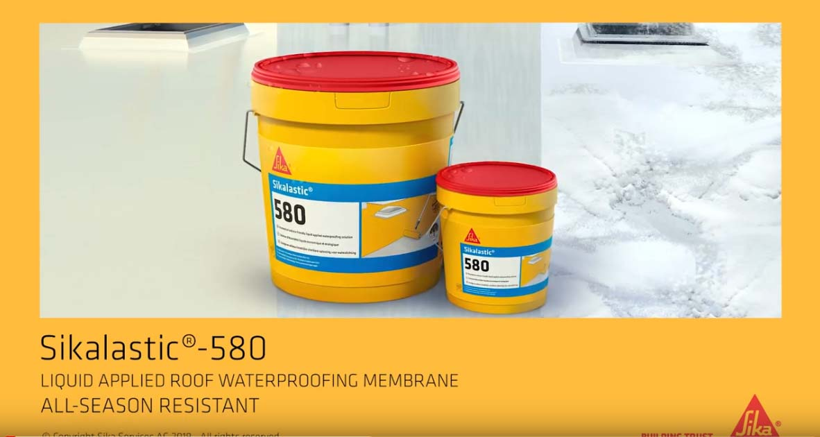 Liquid applied roof waterproofing membrane - Sikalastic®-580