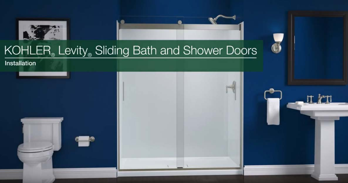 Step-by-step installation instructions for KOHLER Levity Sliding Bath and Shower Doors