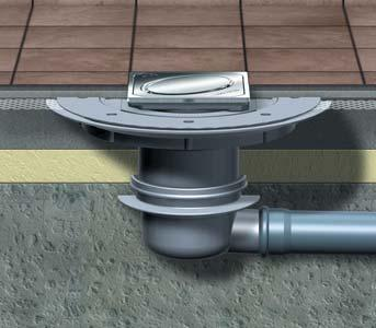 shallow waterproofing flange drainage system from Kessel