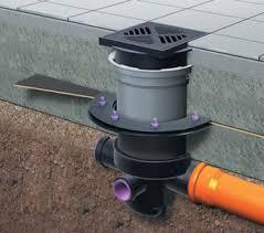 drain flange in concrete