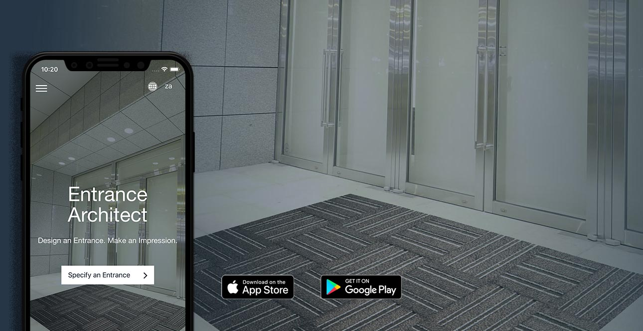 entrance mat app by COBA Africa Matco, mats with distinction
