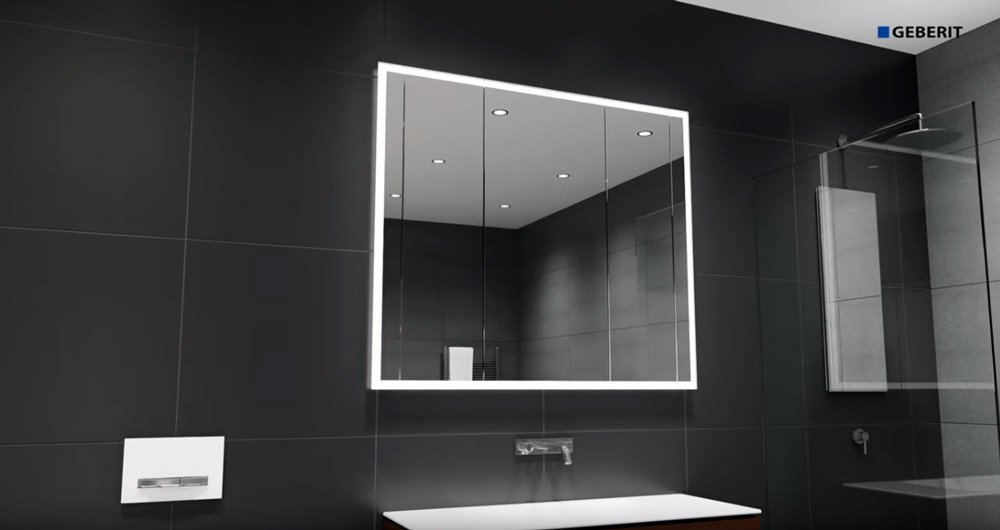 Geberit One Mirror Cabinet - installation
