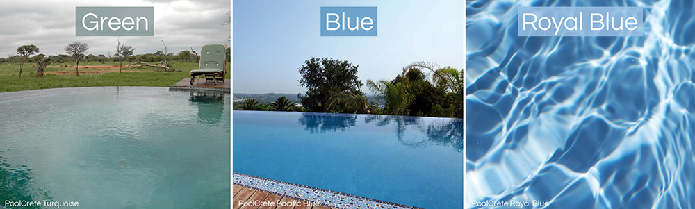 swimming pool plaster colours royal blue look