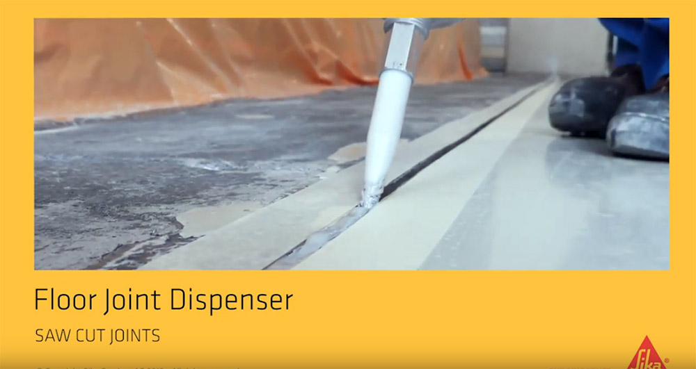 Faster application of floor joints with SikaBond® Dispenser 1800