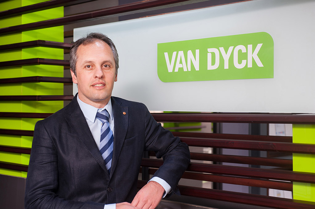 Dr Zarrebini Van Dyck CEO Green Tag rating certificate for Rubber flooring and paving products