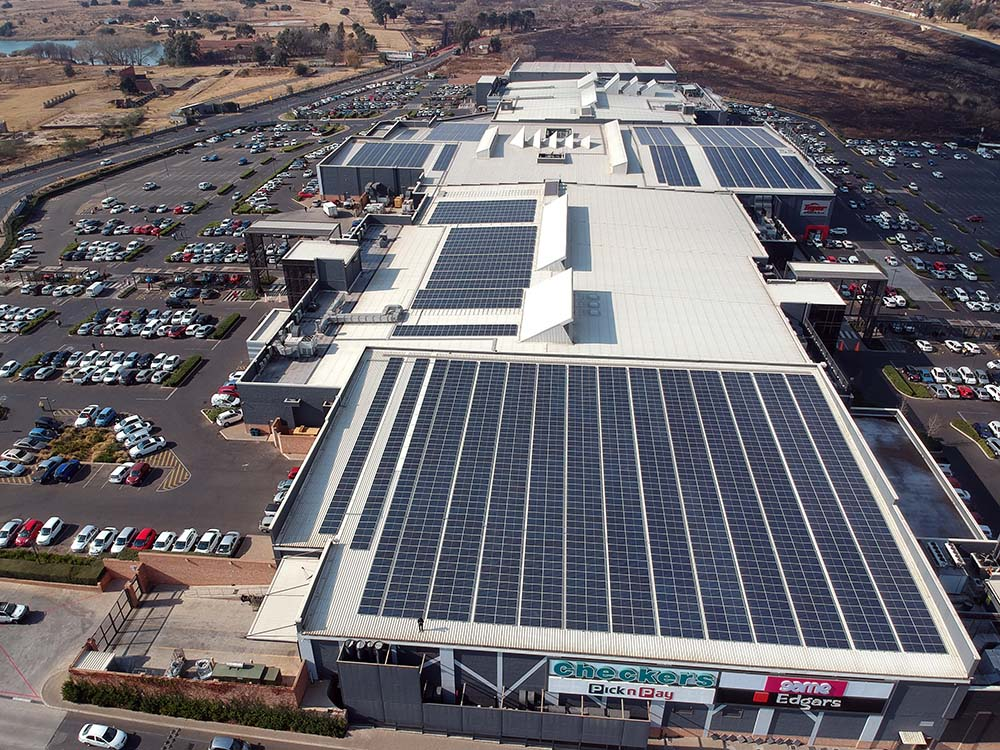 State-of-the-art solar plants at shopping malls