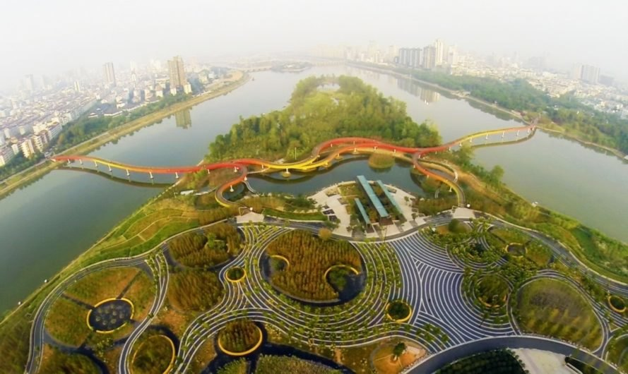 sponge city Shanghai future city with rainwater harvesting and water reuse