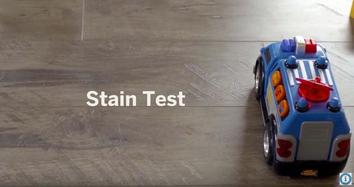 Stain Resistance Test AtroGuard® Flooring