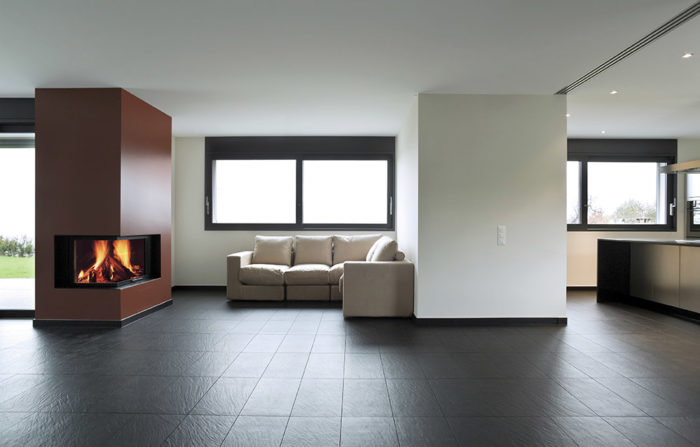 home with porcelain floor tiles