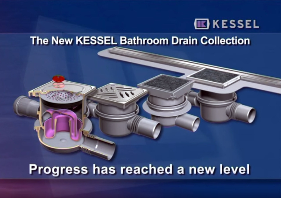 Product video - Bathroom drains (Classic and Superflat) and shower channels (Linearis)