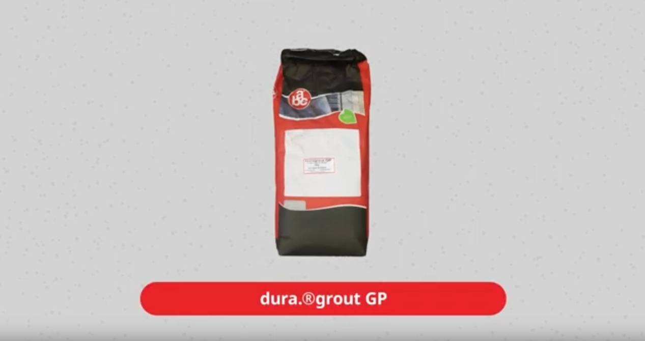 dura grout GP ready-for-use Portland cement-based grouting compound
