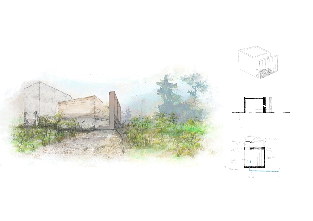 sustainable building design for healing centre with permaculture farming