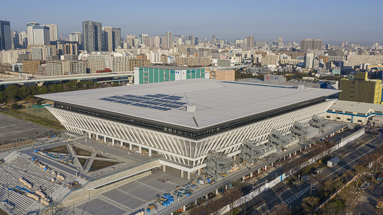 Tokyo aquatic centre for the 2020 Olympic games swimming and diving events