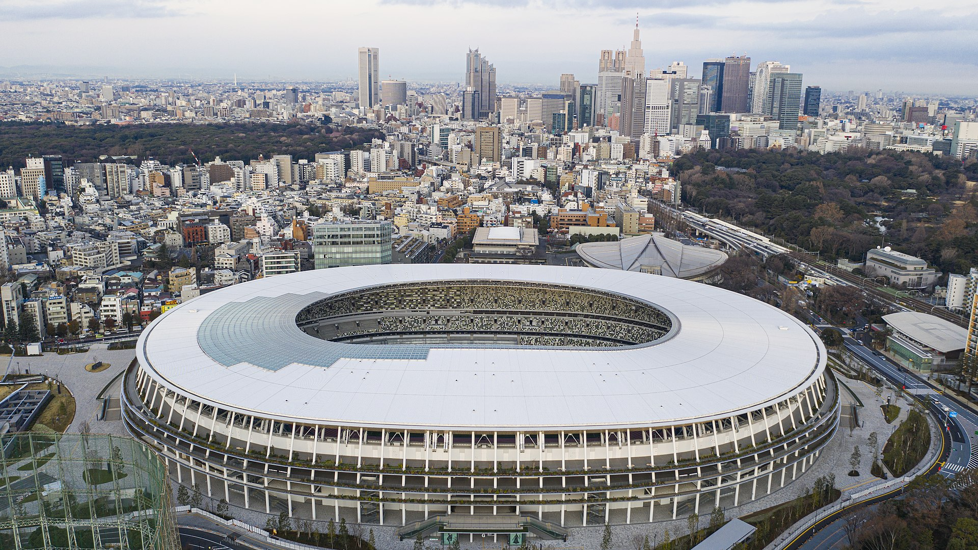 The New National Stadium for the Tokyo Olympic games 2020