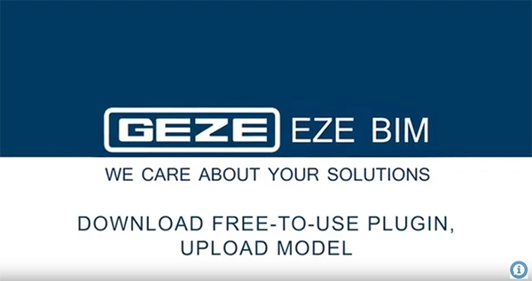 GEZE Specifying made easy with GEZE EZE BIM