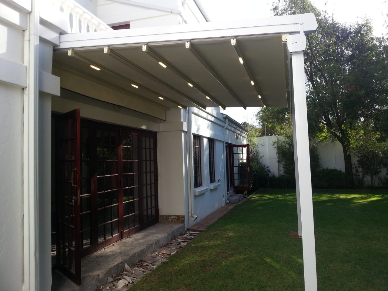 Add a retractable awning