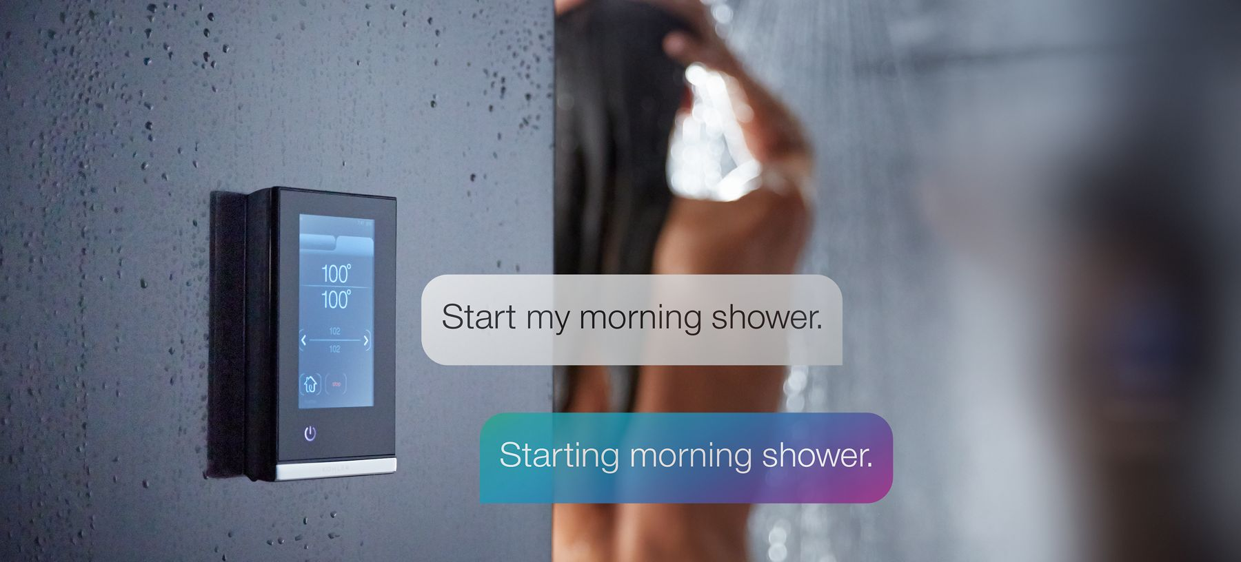 smart showering with voice command