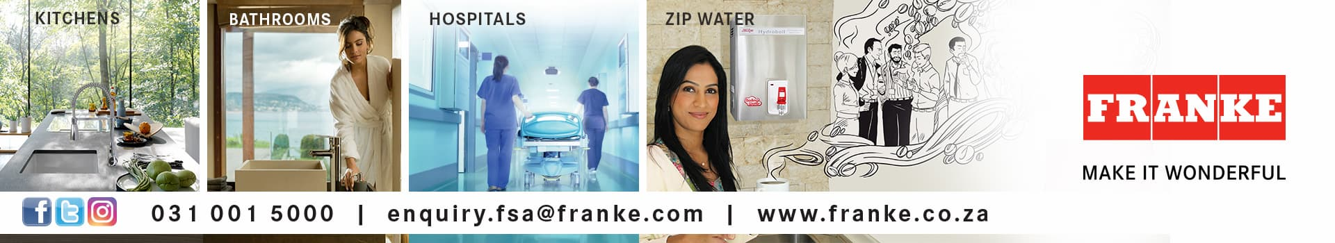 franke banner of sanitary products