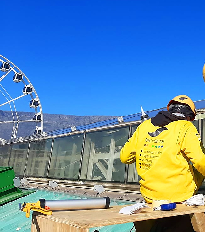 Skysite Skylight repair at the V&A Waterfront Cape Town with Sika products
