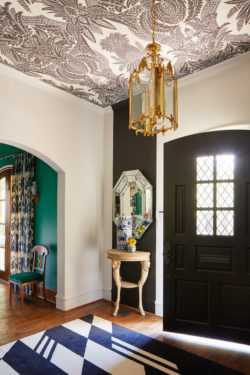 decorative ceiling pattern entrance hall