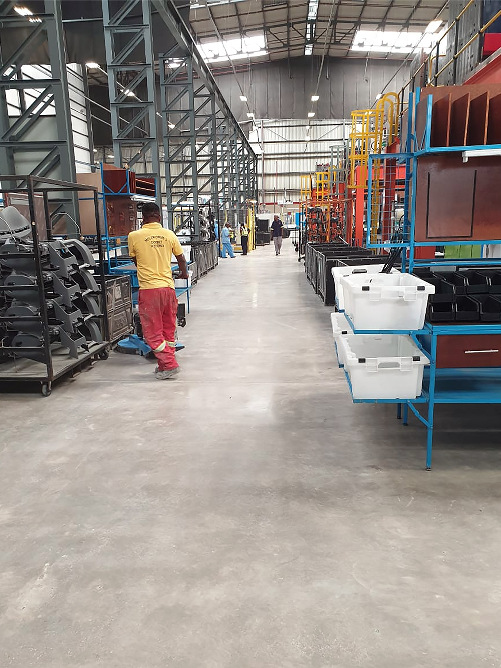 Warehouse floor hardener