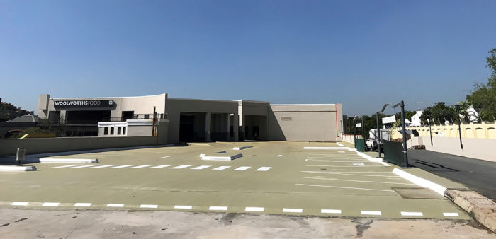lonehill roof parking concrete flooring weatherproof sika project