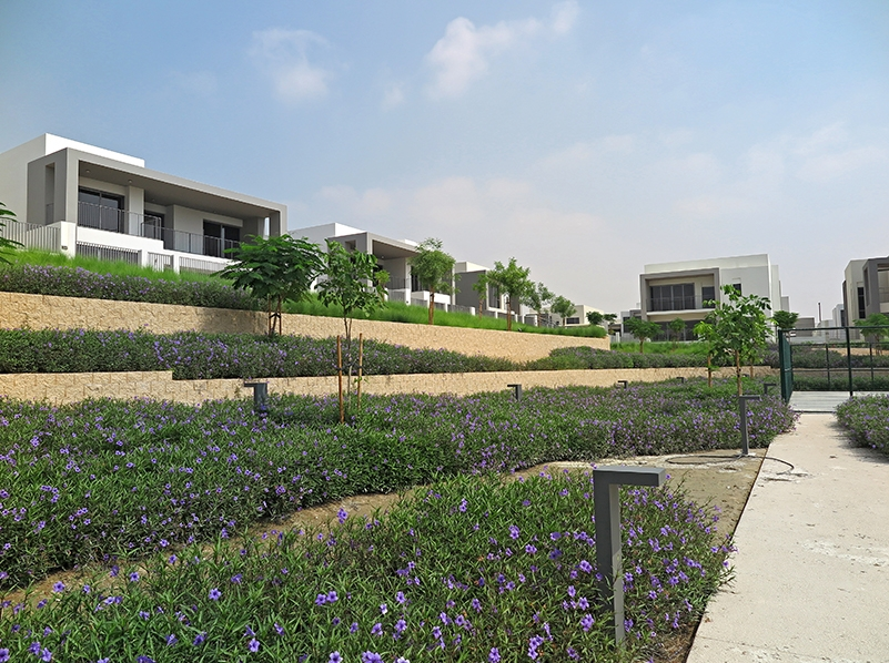 Superb hardscape with Terraforce at Dubai Hills Estate