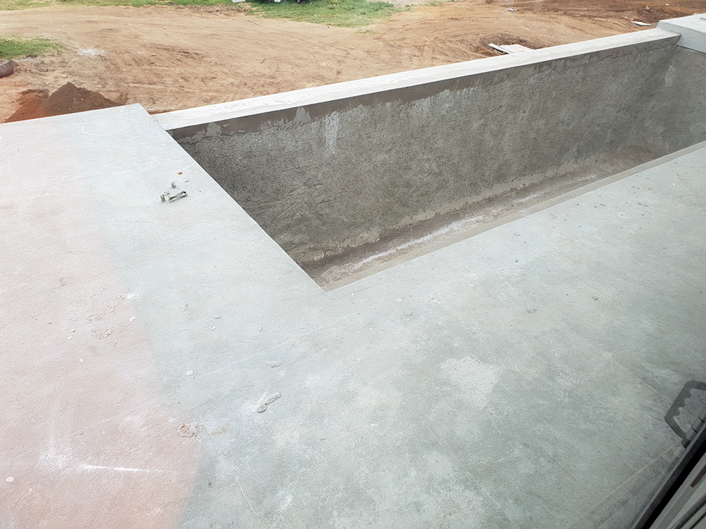 duraflex waterproofing protection with double layer for channels, drains, silos and bridges