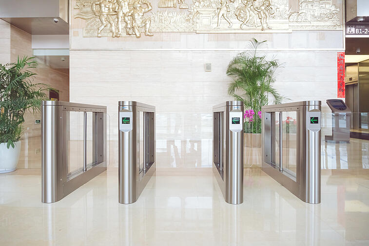 gunnebo access control equipment with wider lanes for social distancing regulations