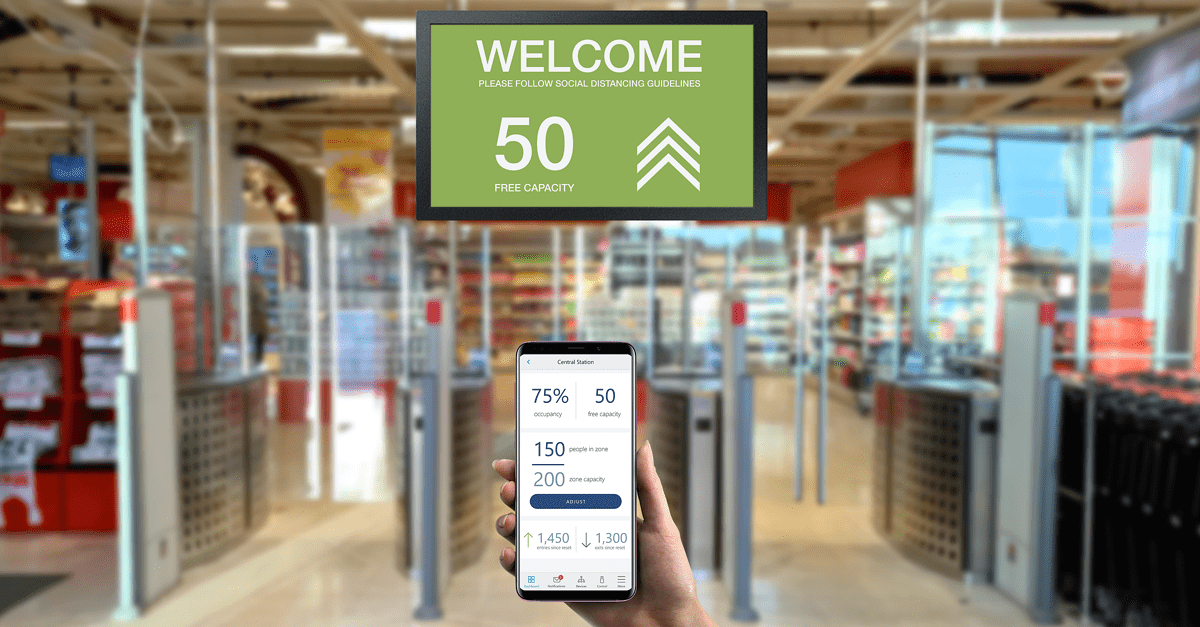 Shoppers can feel safe from Covid-19 in stores, supermarkets and malls using OccuLinq, the hi-tech occupancy management application launched today by Gunnebo, the Swedish global provider of smart access control solutions.