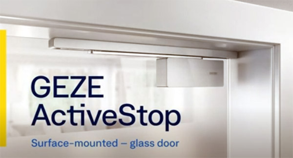 GEZE ActiveStop surface-mounted | Glass door | Installation
