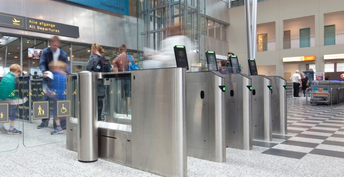airport touchless security check points
