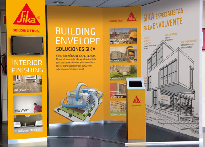 sika e-commerce building product expo stand
