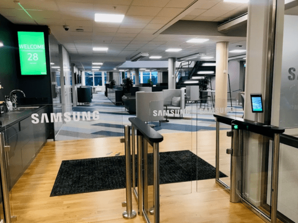 Samsung implements infection control solutions in their offices