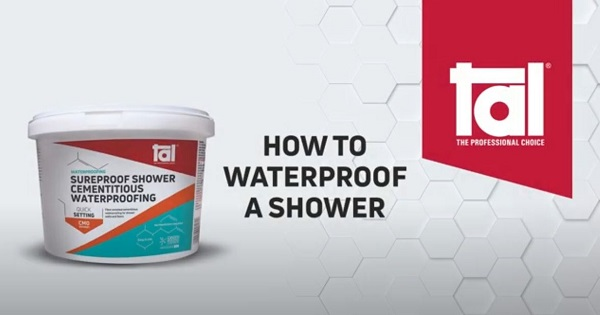 How to waterproof a residential shower