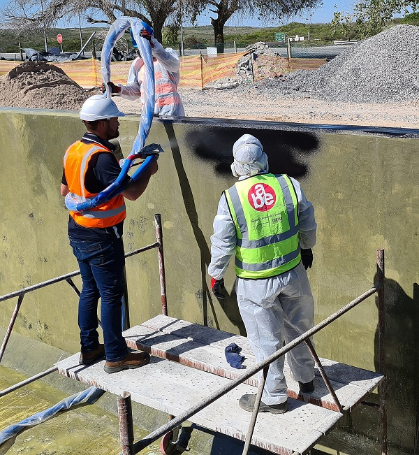 Waterproofing and lining for Atlantis waste pond