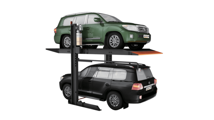 hydro parking system with two car set up