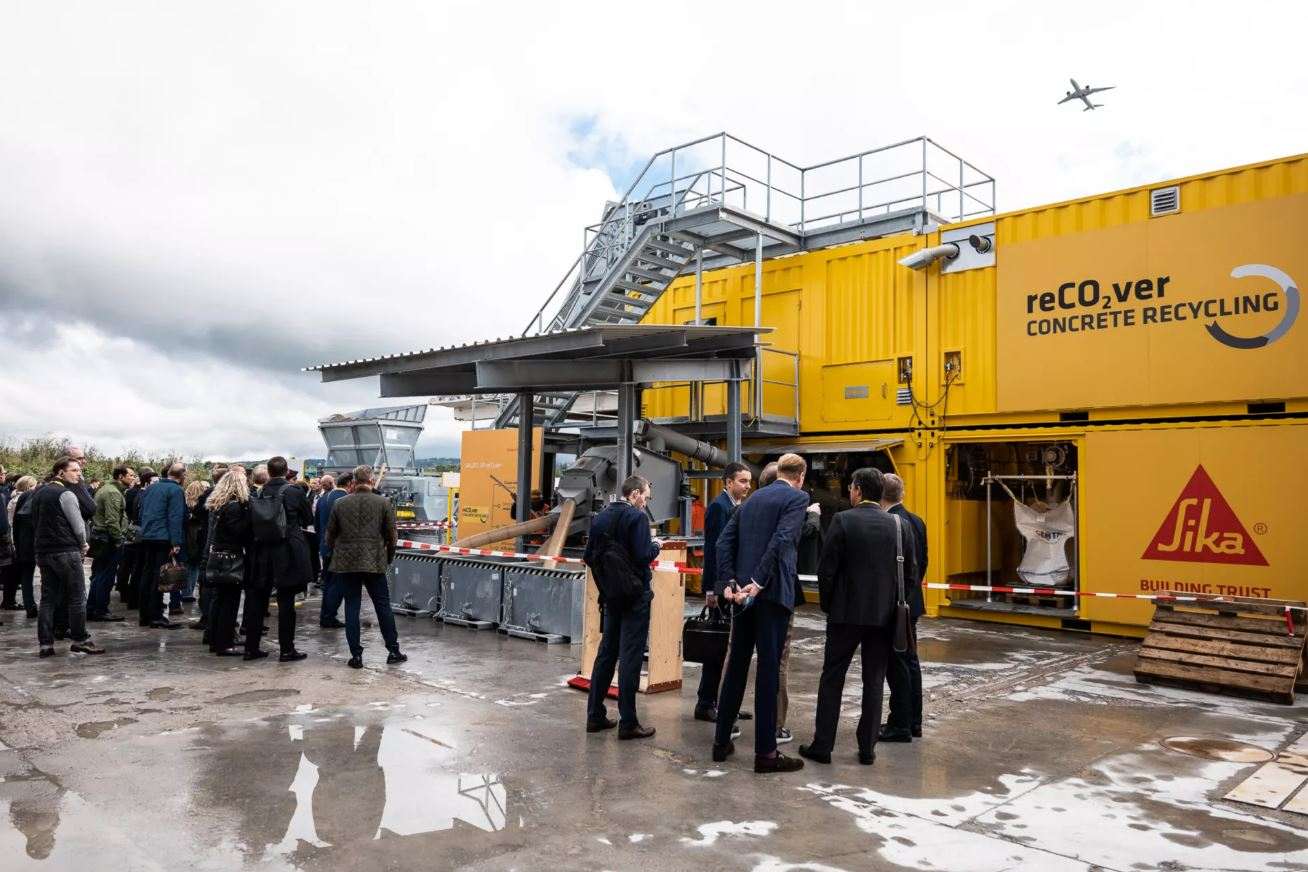 Sika demonstrates proof of concept of Concrete Recycling